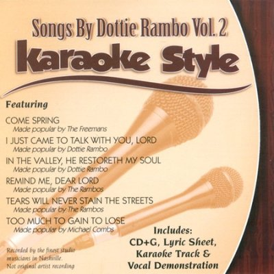 Songs By Dottie Rambo - Karaoke Style, Vol 2